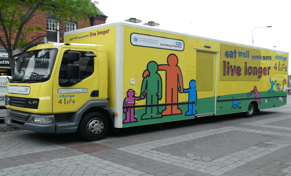 East Riding of Yorkshire Council Health Bus Image